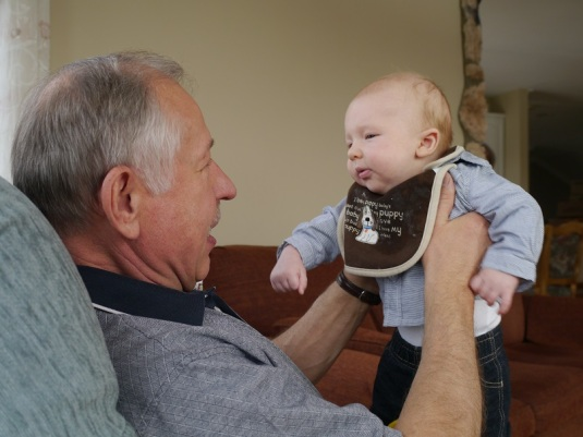 Alex with the grandfather he was named after