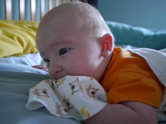 He has a sleep line, haha!